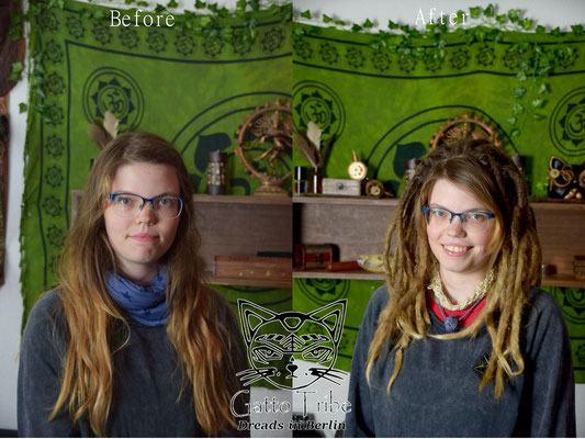 Dreaderstellung, neue Dreads in Berlin 046 ( 43 Dreads mit Extensions)