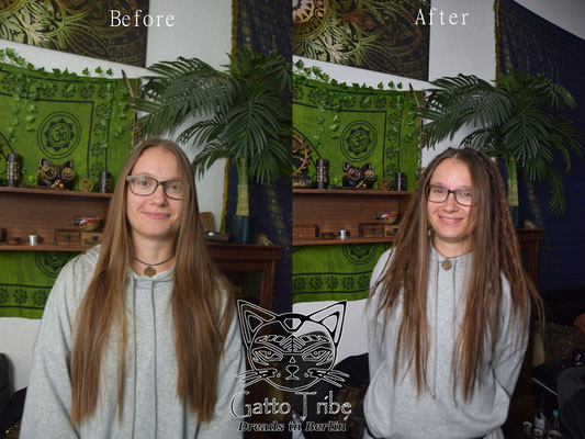 Dreaderstellung, neue Dreads in Berlin 055 ( 39 Dreads ohne Extensions)