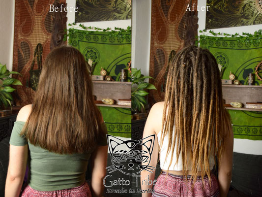 Dreaderstellung, neue Dreads in Berlin 041 ( 43 Dreads mit Extensions)