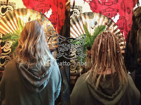 Dreaderstellung, neue Dreads in Berlin 004 (53 Dreads mit Extensions)