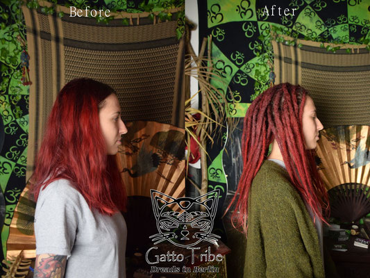 Dreaderstellung, neue Dreads in Berlin 051 ( 66 Dreads mit Extensions)