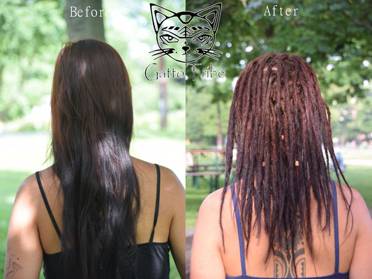 Dreaderstellung, neue Dreads in Berlin 034 (45 Dreads ohne Extensions)
