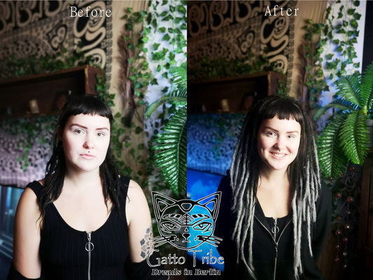 Dreaderstellung, neue Dreads in Berlin 058 ( 38 Dreads mit Extensions)