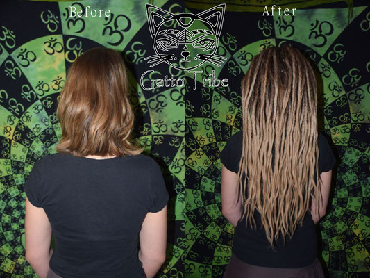 Dreaderstellung, neue Dreads in Berlin 029 (63 Dreads mit Extensions)
