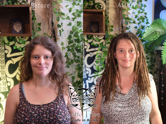 Dreaderstellung, neue Dreads in Berlin 039 ( 48 Dreads mit Extensions)