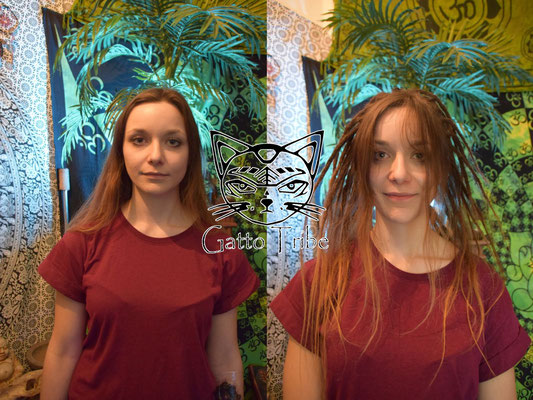 Dreaderstellung, neue Dreads in Berlin 009 (59 Dreads mit Extensions)