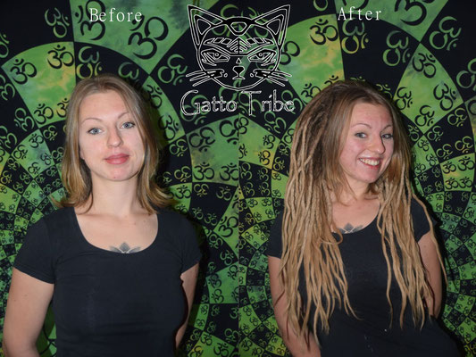 Dreaderstellung, neue Dreads in Berlin 015 (63 Dreads mit Extensions)