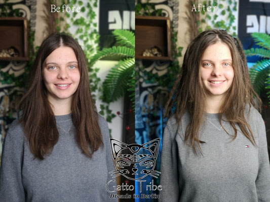 Dreaderstellung, neue Dreads in Berlin 061 ( 46 Dreads ohne Extensions)