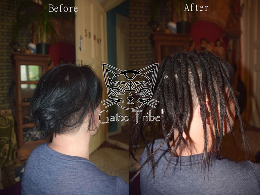 Dreaderstellung, neue Dreads in Berlin 028 (25 Dreads mit Extensions)