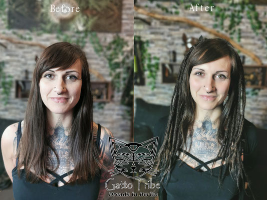 Dreaderstellung, neue Dreads in Berlin 074 ( 38 Dreads mit Extensions)