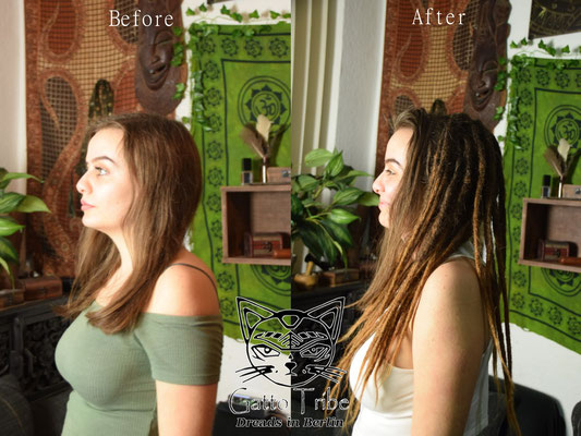 Dreaderstellung, neue Dreads in Berlin 042 ( 43 Dreads mit Extensions)