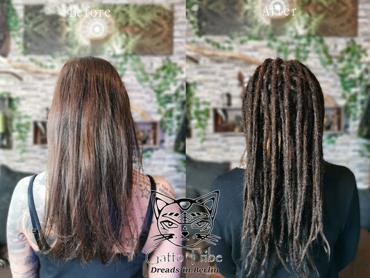 Dreaderstellung, neue Dreads in Berlin 072 ( 38 Dreads mit Extensions)