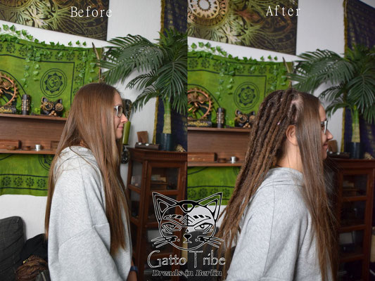 Dreaderstellung, neue Dreads in Berlin 054 ( 39 Dreads ohne Extensions)