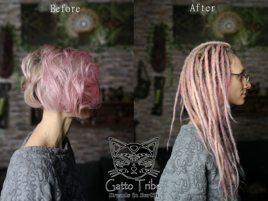 Dreaderstellung, neue Dreads in Berlin 069 ( 43 Dreads mit Extensions)