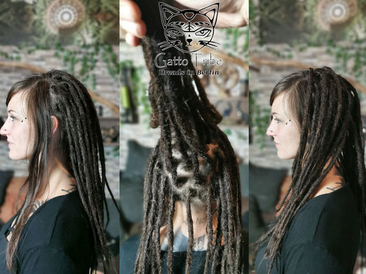 Dreaderstellung, neue Dreads in Berlin 071 ( 38 Dreads mit Extensions)