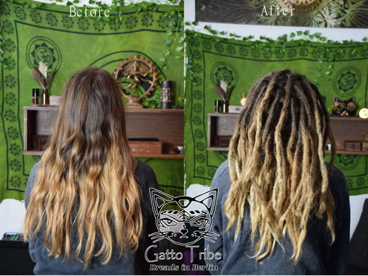 Dreaderstellung, neue Dreads in Berlin 044 ( 43 Dreads mit Extensions)