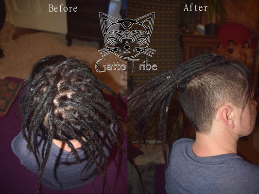 Dreaderstellung, neue Dreads in Berlin 026 (25 Dreads mit Extensions)