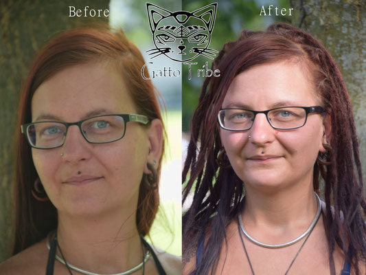Dreaderstellung, neue Dreads in Berlin 036 (45 Dreads ohne Extensions)