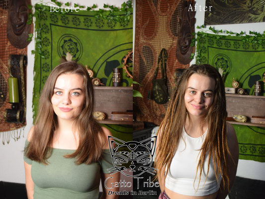 Dreaderstellung, neue Dreads in Berlin 043 ( 43 Dreads mit Extensions)