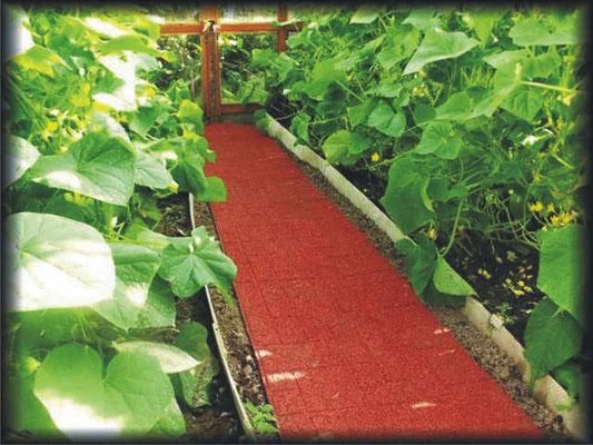 готовые резиновые дорожки для дачи между грядок, в теплице. долговечные, не скользкие, не растут сорняки, земля дышит, не создает парниковый эффект