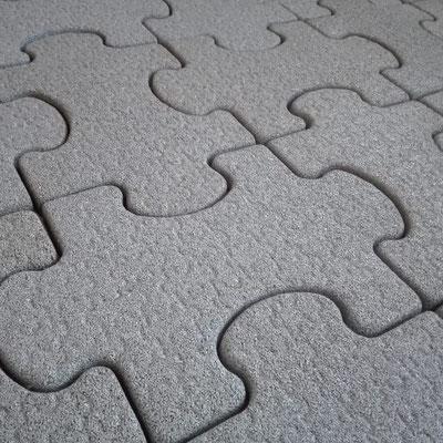 Резиновая плитка для детских площадок с замковым соединением gummi-пазл