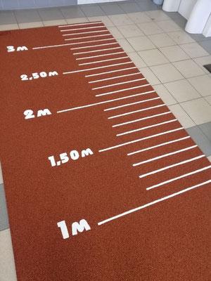 дорожка резиновая с разметкой для прыжков в длину ГТО