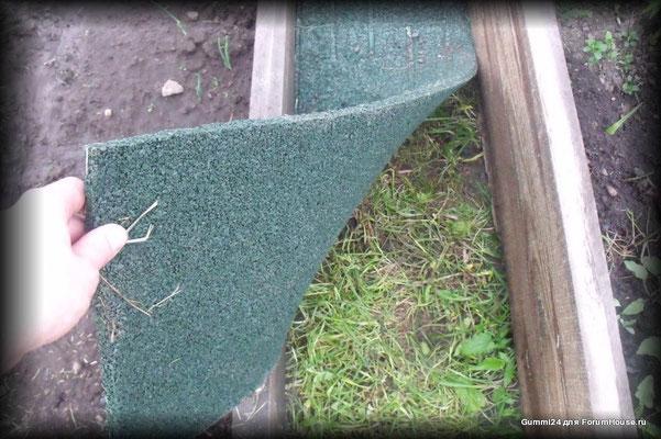 готовые дорожки из резиновой крошки для дачи между грядок, в теплице. долговечные, не скользкие, не растут сорняки, земля дышит, не создает парниковый эффект