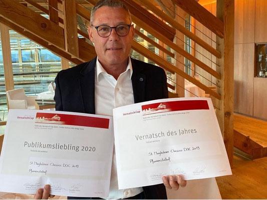 Vernatsch-Cup: Vernatsch des Jahres und Publikumsliebling für St. Magdalener classico 2019 Pfannenstielhof