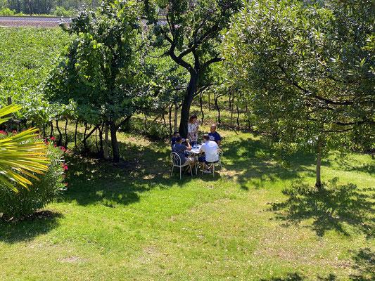 1. August 2020: Weinverkostung an einem unserer idyllischen Plätze