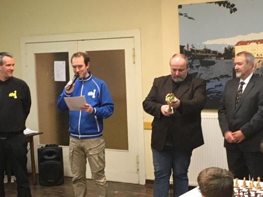 Ein Tolles Team: Organisatoren, Präsident Carsten Schmidt und Breitensportreferent Hugo Schulz. Danke!