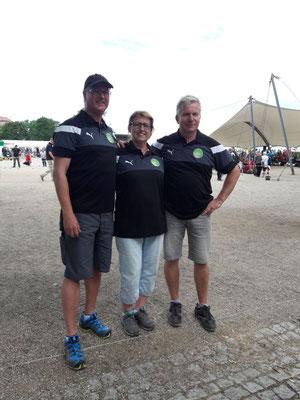 Gaby mit Dirk und Tino