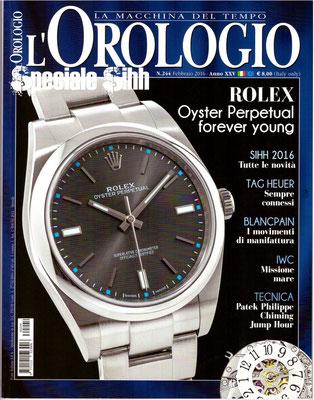 L'Orologio, N° 244, Febbraio 2016, Copertina