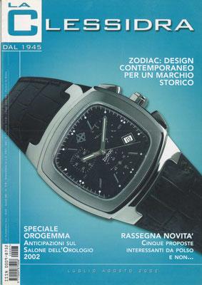 La Clessidra, N° 7/8 Anno 58, Luglio -Agosto 2002, Copertina