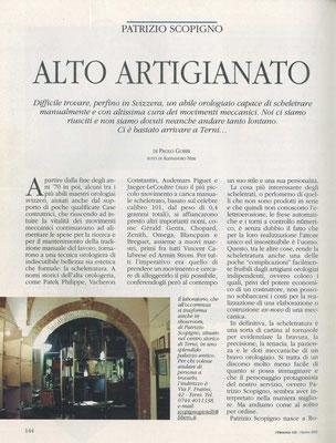 L'Orologio, N° 121, Ottobre 2003, Pagina interna 1