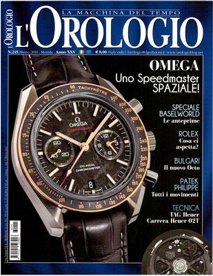 L'Orologio, N° 245, Marzo 2016, Copertina