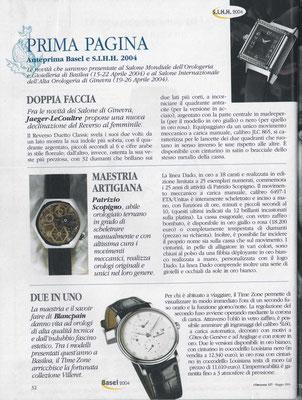 L'Orologio, N°127, Maggio 2004, Pagina Interna