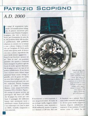 La Clessidra, N° 7/8 Anno 58, Luglio -Agosto 2002, Pagina Interna 1