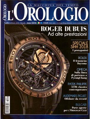 L'Orologio, N° 264, Febbraio 2018, Copertina