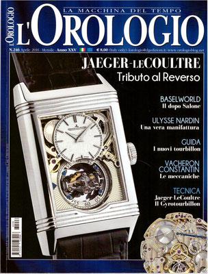 L'Orologio, N° 246, Aprile 2016, Copertina