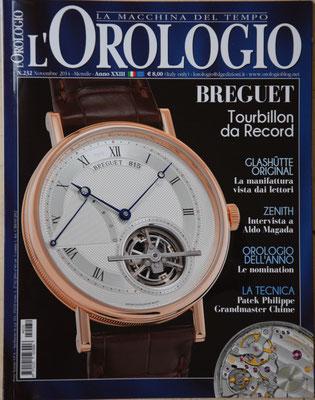 L'Orologio, N° 232, Novembre 2014, Copertina