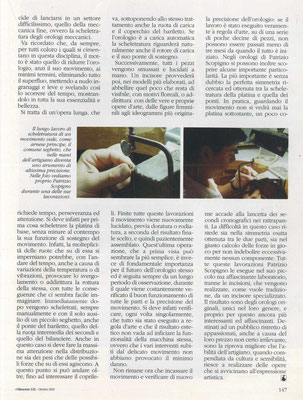 L'Orologio, N° 121, Ottobre 2003, Pagina interna 4