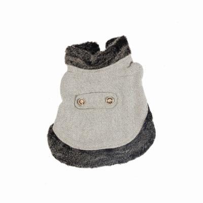 manteau gris chien