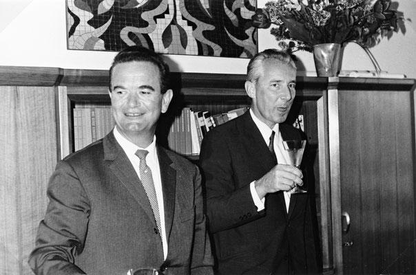 1968 Heinrich Koradi (l.)