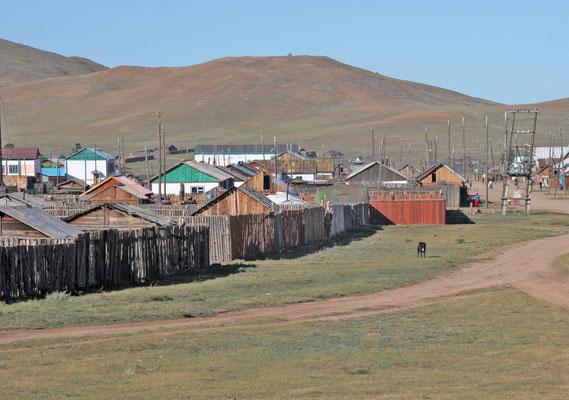 Typischer Ort in der Mongolei