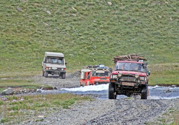 Bachquerung in der Mongolei