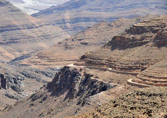 Piste im Anti - Atlas, Geländewagen - Reise Marokko