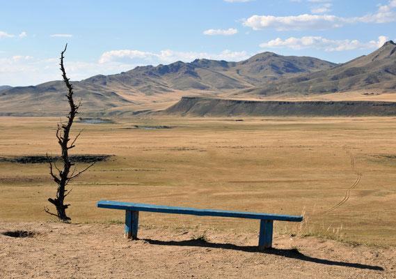 Landschaft des Selenge Gol, Mongolei