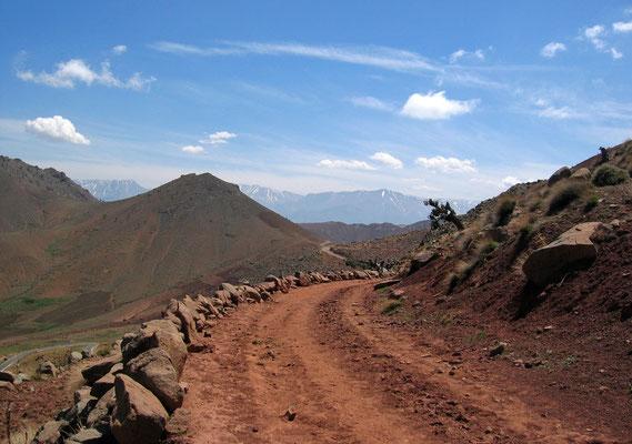 Piste im M'Goun Gebirge, Offroad-Reise Marokko