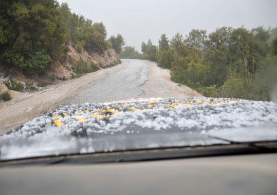 Gewitter im Atlas - Gebirge, 4 x 4 Reise Marokko im März