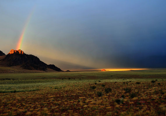 Abendstimmung bei Ölgi, Mongolei